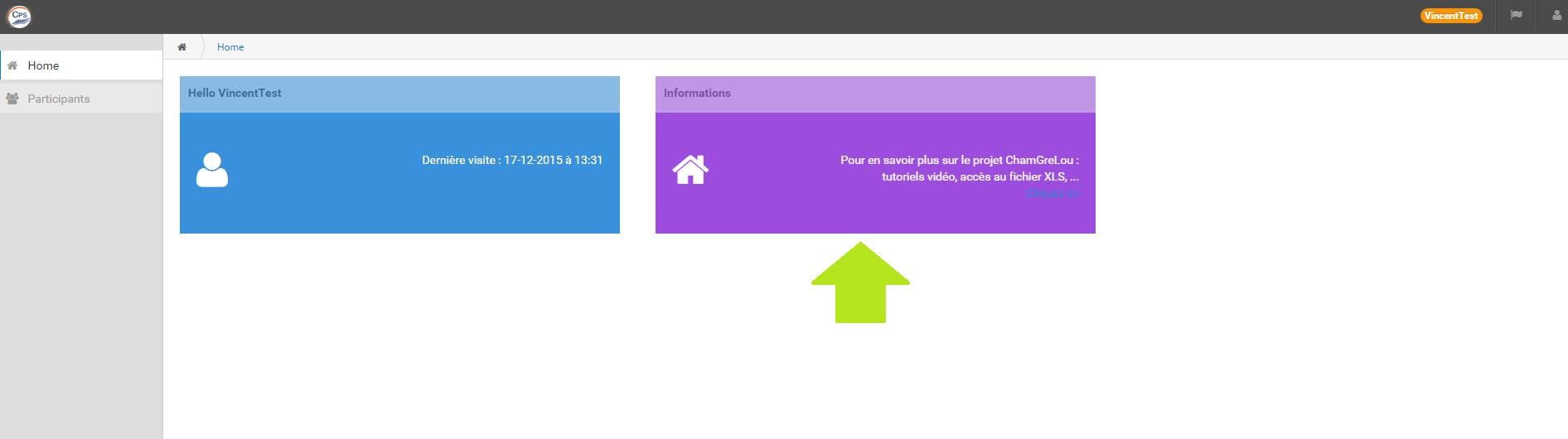 Homepage vers tuto
